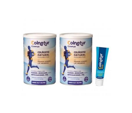 Colnatur® Pack Complex sabor neutro 2x330g + Fisio crema de masaje deportivo 60ml