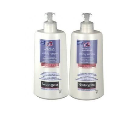 Neutrogena® Visibly Renew loción corporal elasticidad intensa 400ml+400ml