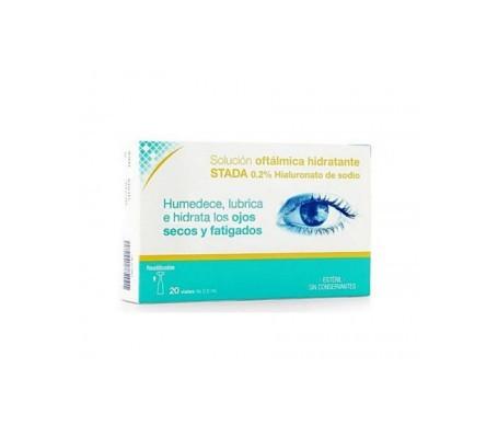 Stada solución ocular 0,2% ácido hialurónico 0,5ml 20uds