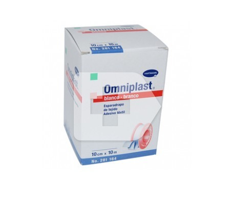 Omniplast esparadrapo hipoalérgico tejido resistente 10m X 10cm 1u