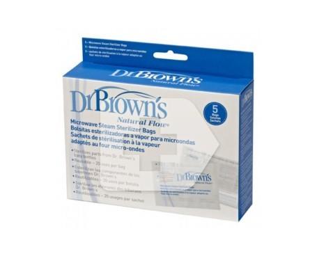 Dr. Brown's 1 bolsa esterilizacion a vapor microondas 5uds