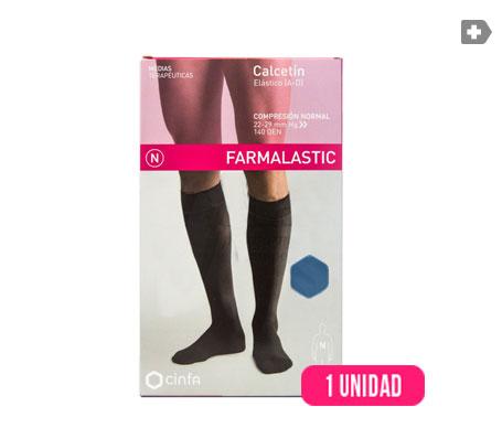 Farmalastic calcetín (A-D) compresión normal T-mediana azul 1ud