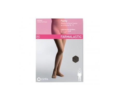 Farmalastic panty-media hasta la cintura (E-T) comp. normal T-extra grande capuchino 1ud