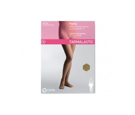 Farmalastic panty-media hasta la cintura (E-T) comp. normal T-extra grande camel 1ud