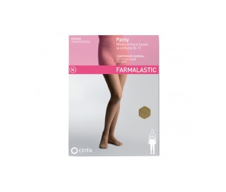 Farmalastic panty-media hasta la cintura (E-T) compresión normal T-pequeña camel 1ud