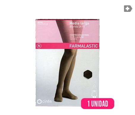 Farmalastic media larga blonda (A-F) compresión normal  T-mediana negro 1ud