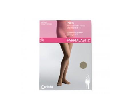 Farmalastic panty-media hasta la cintura (E-T)comp. normal T-extra grande beige 1ud