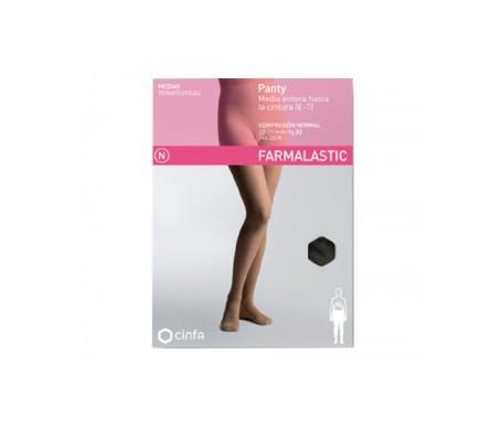 Farmalastic panty-media hasta la cintura (E-T) comp. normal T-extra grande negro 1ud