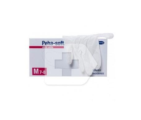 Peha-Soft guantes desechables de nitrilo white talla M 100uds