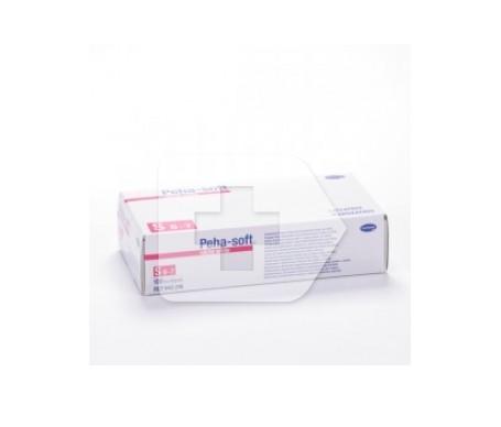 Peha-Soft guantes desechables de nitrilo white talla S 100uds