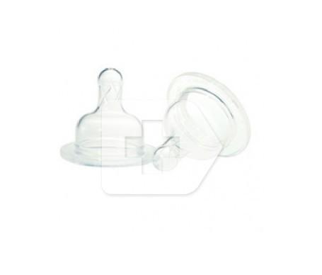 Dr Brown's tetina silicona boca ancha recién nacido 2uds