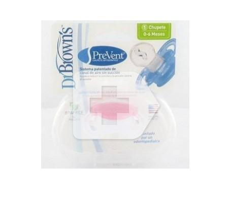 Dr Brown's Prevent 1ª etapa rosa chupete silicona 1ud