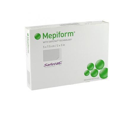 Mepiform reductor de cicatriz silicona lámina 5x7,5cm 5uds