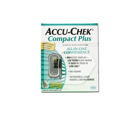 Accu-Chek Compact Plus glucómetro medidor 1kit