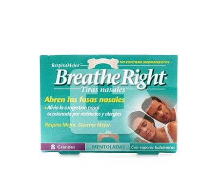 Breathe Right tira nasal balsámica grande 8uds