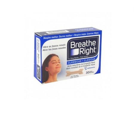 Breathe Right tiras nasales color pequeña-mediana 30uds