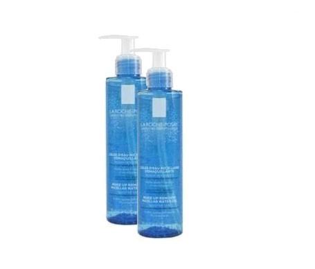 La Roche-Posay gel desmaquillante fisiológico agua micelar 195ml+195ml