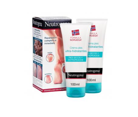 Neutrogena® crema pies secos y estropeados 100ml+100ml
