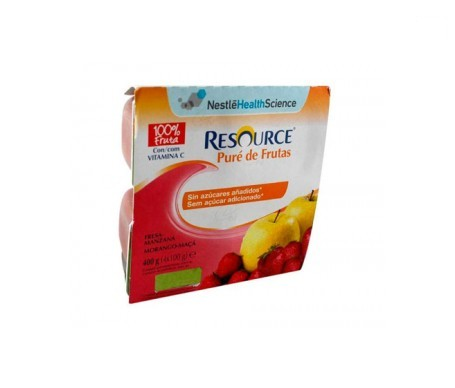 Resource puré fresa-manzana 4 tarrinas x 100g