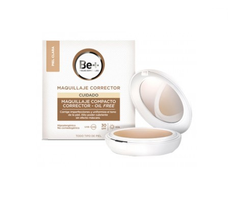 Be+ make-up compact oil-free corrector SPF30+ light skin 10g