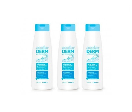 Acofarderm gel de baño aloe vera y vitamina E 3udsx1l