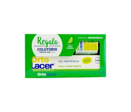 Ortho lacer kit pour gel dentifrice à la chaux 75ml+100ml salle de bain de bouche