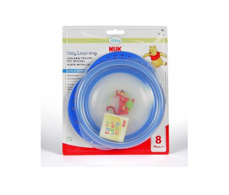 Nuk Easy Learning Winnie The Pooh plato con tapa 1ud
