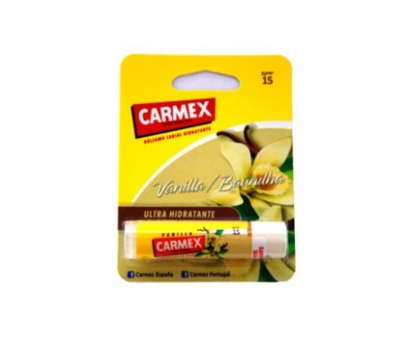 Carmex bálsamo labial ultrahidratante SPF15+ vainilla 4,25g