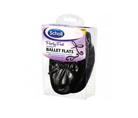 Dr Scholl Party Feet ballerina de bolsillo 41-42 1 par negro