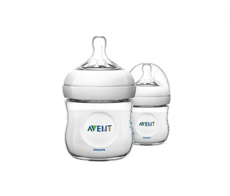 Avent biberón natural transparente 125ml+125ml