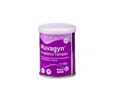 Muvagyn Probiótico tampon vaginal super 8uds