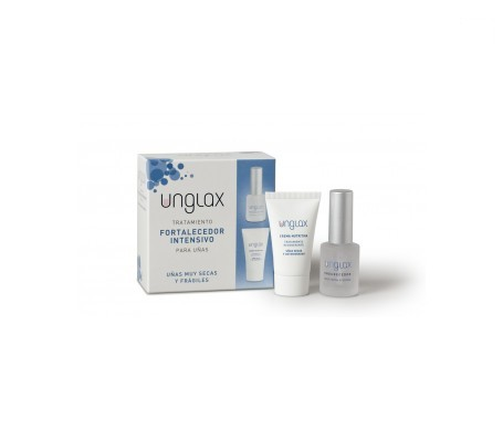 Unglax tratamiento uñas crema 15ml + endurecedor 10ml