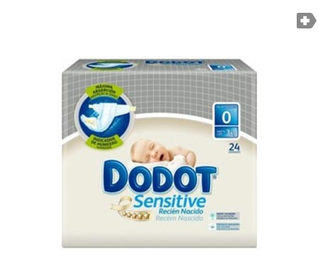 Dodot Sensitive T-0 hasta 3kg 24uds