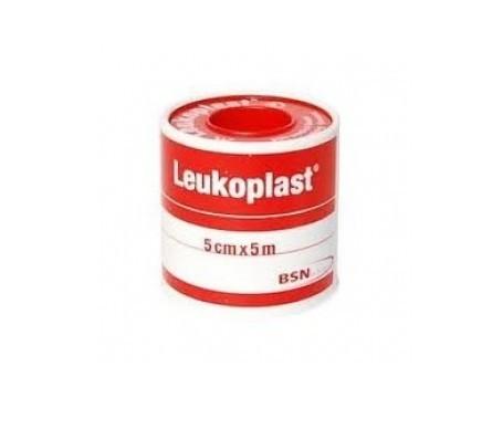 Leukoplast esparadrapo color blanco 5mx5cm 1ud