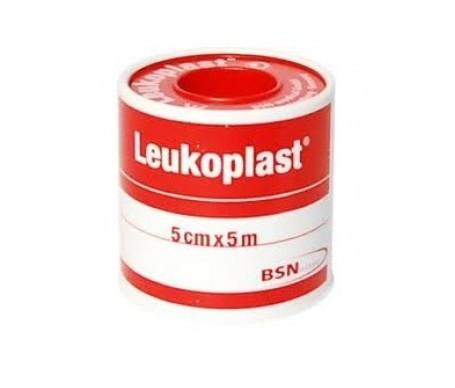 Leukoplast esparadrapo color carne 5mx5cm 1ud