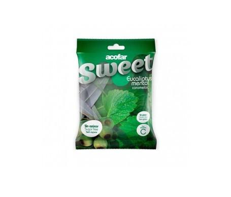 Acofar Sweet caramelos sin azúcar eucalipto mentol 60g