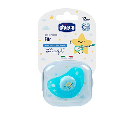 Chicco® Mr Wonderful chupete silicona 12m+ 1ud