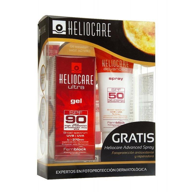 Heliocare Ultra SPF90+ gel 50ml + SPF50+ spray Advanced SPF50+ 75ml