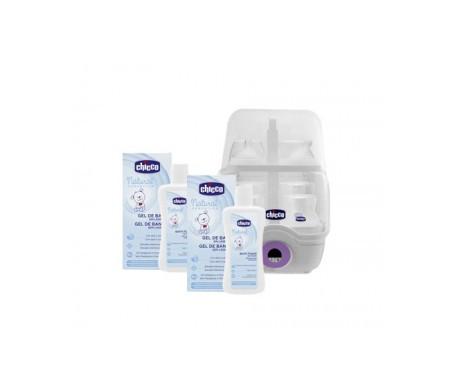 Esterilizador eléctrico digital 4 biberones Chicco® + gel baño sin lágrimas 2udsx200ml