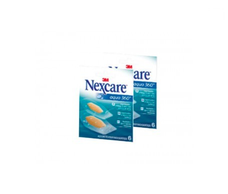 Nexcare™ tiras aqua 360º 6 bolsillo 6uds+6uds