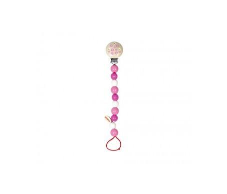 Heimess cadenita perlas rosa para chupete 1ud