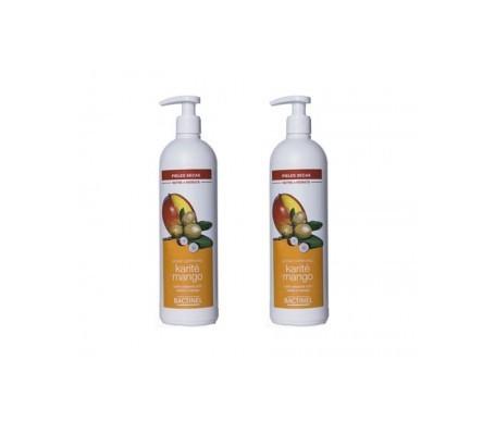 Bactinel leche corporal karité y mango 400ml+400ml