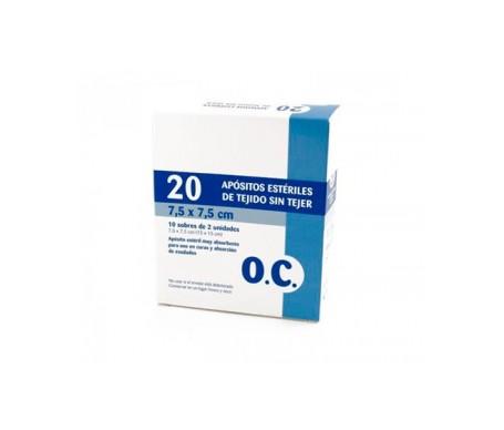 OC gasa esteril tejido sin tejer 7.5 x 7.5cm 20uds