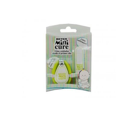 Beter Mini Cure cortauñas + lima verde