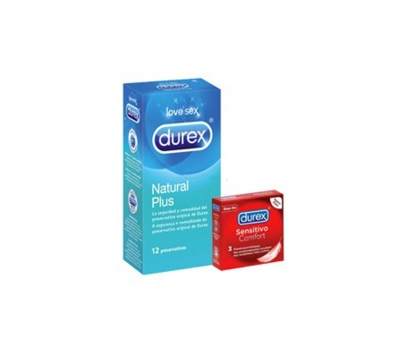 Durex® Natural Plus 12uds + Sensitivo Comfort 3uds