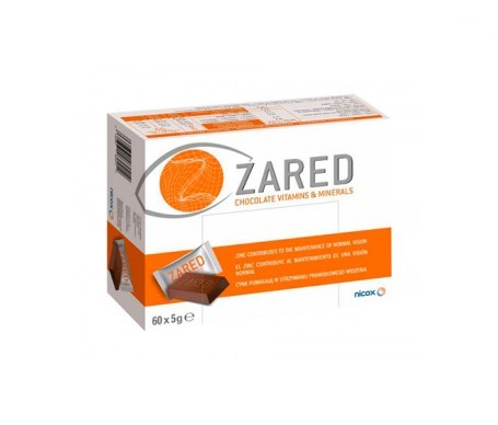 Zared chocolate vitamins and minerals 60uds