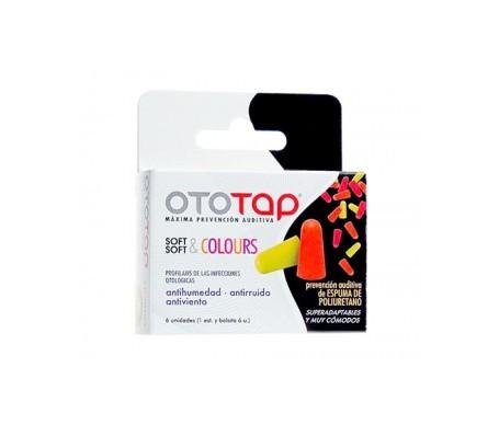 Ototap Soft & Colours tapones oídos poliuretano 6uds