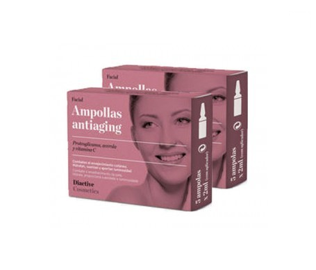 Diactive ampollas antiaging faciales 5amp+5amp