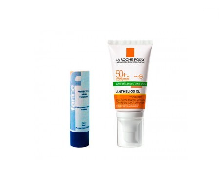 La Roche-Posay Anthelios SPF50+ toque seco color 50ml+Farline labial 4g