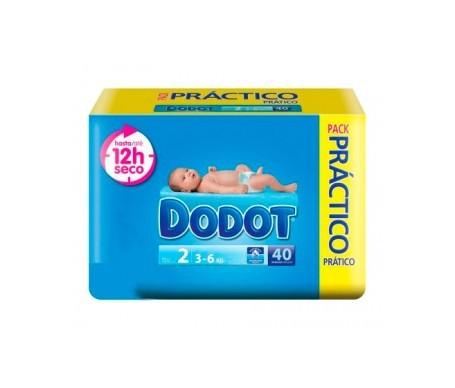 Dodot pañal infantil pack práctico T-2 40uds